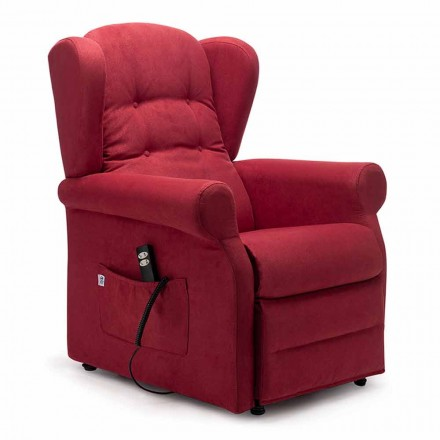 Fauteuil Releveur avec Roues à 2 Moteurs Lift Relax, Made in Italy - Marlene