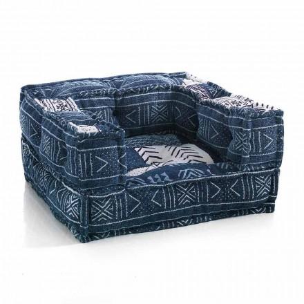 Fauteuil lounge ethnique en tissu patchwork ou velours - Fibre