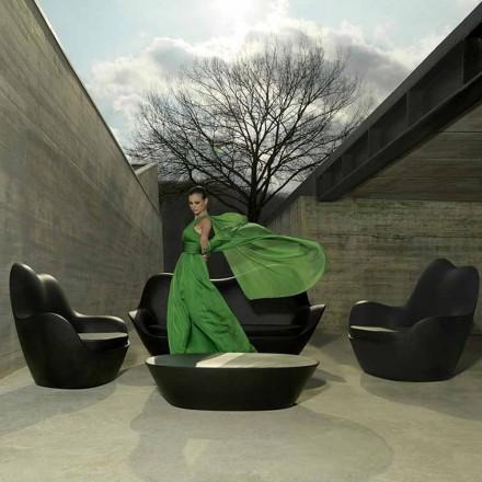 Fauteuil de jardin moderne en polyéthylène, Sabinas by Vondom