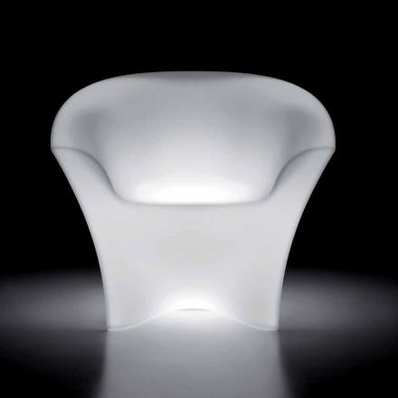 Fauteuil d'extérieur lumineux en polyéthylène avec éclairage LED Made in Italy - Conda