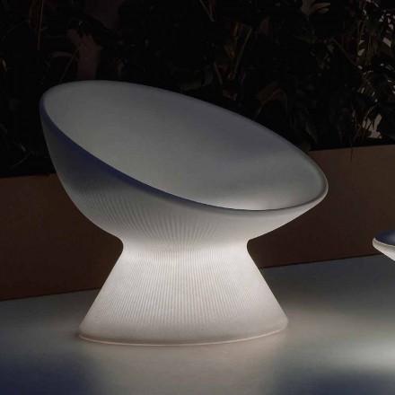 Fauteuil d'extérieur lumineux en polyéthylène avec éclairage LED Made in Italy - Desmond