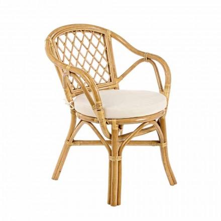 Chaise de jardin extérieur empilable en rotin naturel - Spore