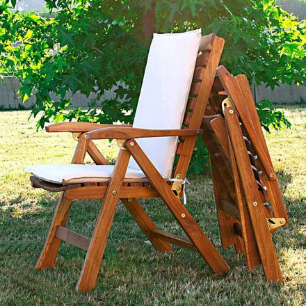 Fauteuil de jardin pliante en bois de teck