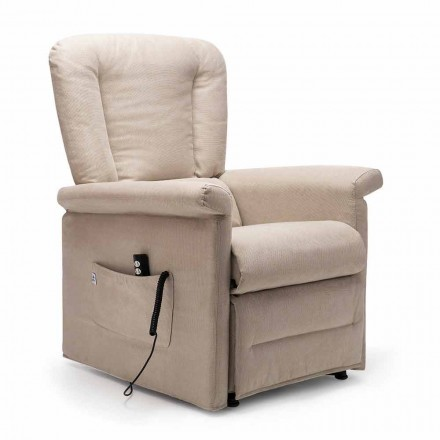 Fauteuil Inclinable Lift Relax à 2 Moteurs avec Roues, Made in Italy - Isabelle