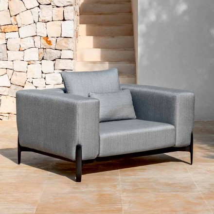 Fauteuil de jardin Relax en aluminium et tissu, design en 3 finitions - Filomena