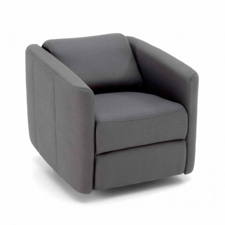 Fauteuil de salon inclinable pivotant moderne en similicuir - Magalotti