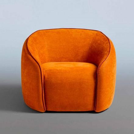 Fauteuil Relax Design Moderne Fabriqué en Italie en Tissu Coloré - Baloo