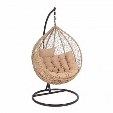 Fauteuil de jardin suspendu en acier design de luxe pour l'extérieur - mousse