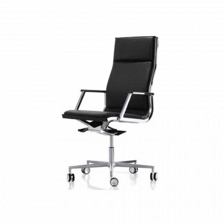 Fauteuil de bureau ergonomique avec accoudoirs Nulite par Luxy