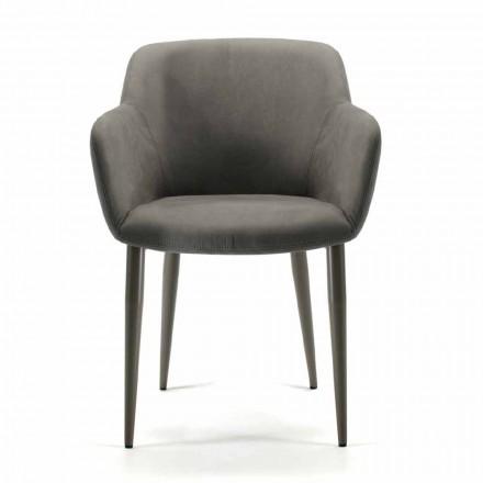Chaise longue Made in Italy en tissu ou cuir, 4 pièces - Bardella