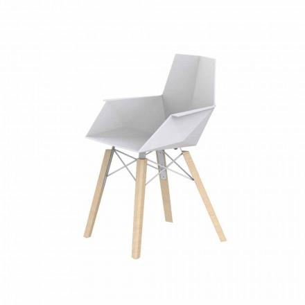 Fauteuil de salon design en polypropylène et bois - Faz Wood - Vondom