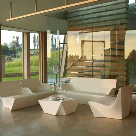 Fauteuil lounge au design moderne Slide Kami Ichi, fabriqué en Italie