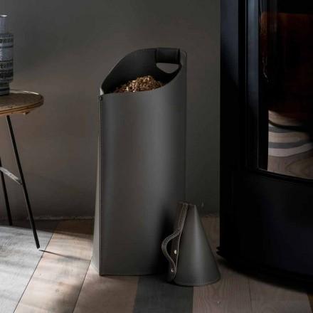 Stockeur à pellets de design moderne fait en cuir Sapir