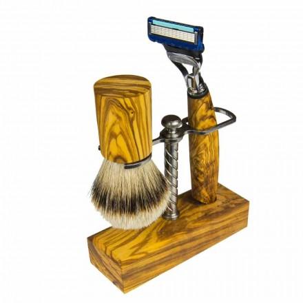 Support de rasoir et blaireau de rasage, produit artisanal fabriqué en Italie - Diplo