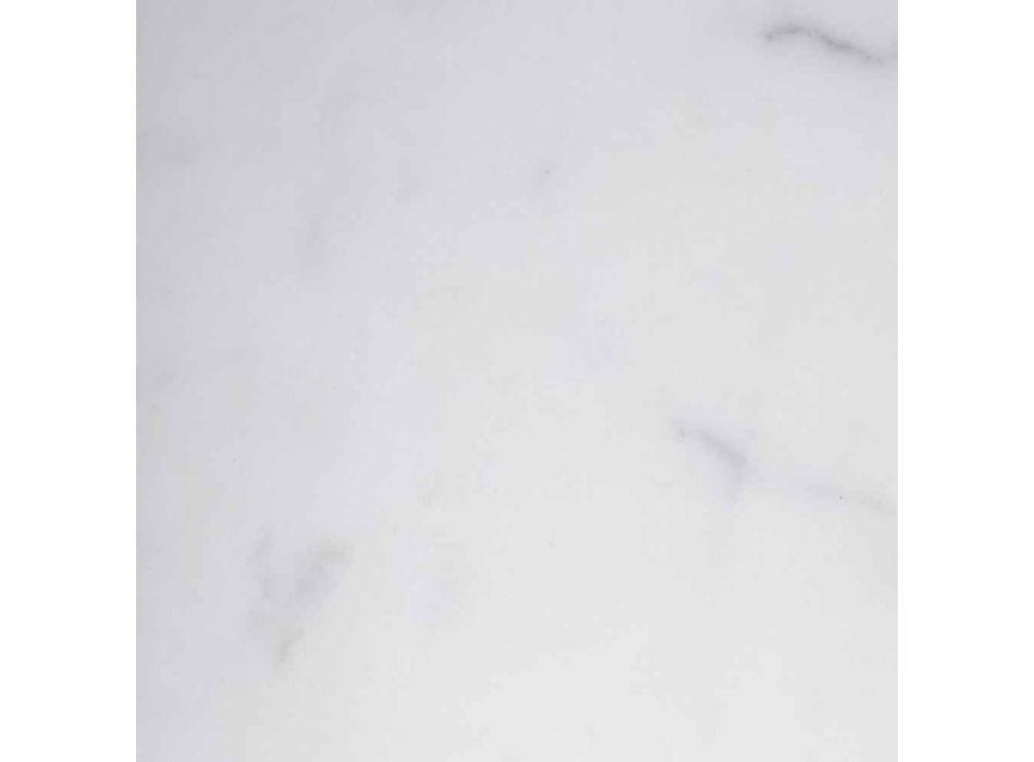 Bougeoir Bicolore Marbre et Laiton Fabriqué en Italie - Brett