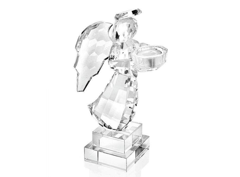 Bougeoir en cristal de luxe italien en forme d'ange - Paqui