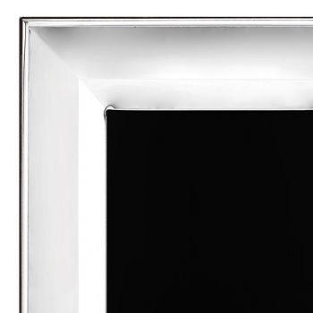 Cadre photo en argent, verre et bois Design vertical Made in Italy - Tancredi