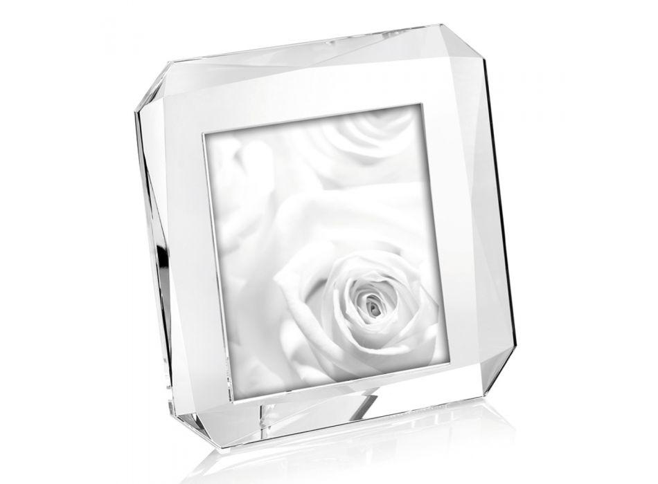 Cadre photo de table carré en cristal design de luxe italien - Alighieri