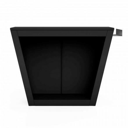 Porte-bois de Design pour l'Intérieur ou l'Extérieur avec Plan de Travail – Esplanade