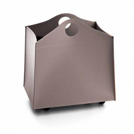 conception Portalegna cuir anthracite avec des roues WoodBag