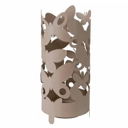 Porte-parapluie design avec papillons en fer fabriqué en Italie - Maura