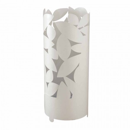 Porte-parapluie design avec des silhouettes en feuilles de fer fabriqué en Italie - Piumotto