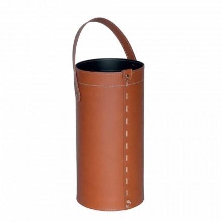 Porte-parapluie design en cuir régénéré Regen, fabriqué en Italie