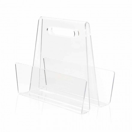 Porte-revues moderne en plexiglas transparent fabriqué en Italie - Immoral