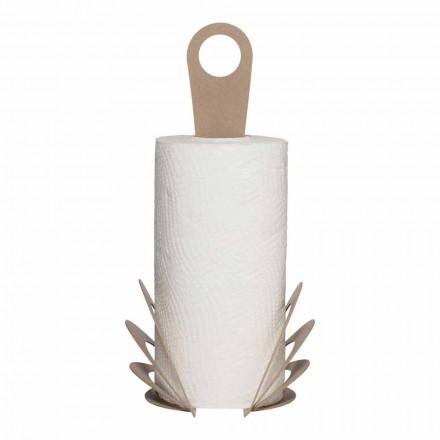 Porte-rouleau de serviette de cuisine fait à la main en fer, fabriqué en Italie - Futti