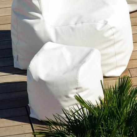 Pouf de jardin blanc de design moderne Cloud par Trona