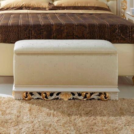 Coffre pouf de chambre design classique Zais made i Italy