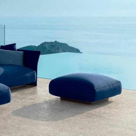 Pouf de jardin moderne en tissu Cliff Talenti, design Palomba