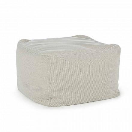 Pouf d'extérieur carré recouvert de tissu déperlant, Homemotion - Lydia