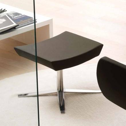 Pouf Moderne en Simili Cuir et Alluminium de Bureau – Clio