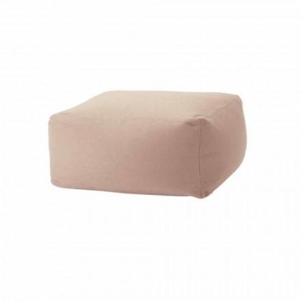 Pouf rectangulaire Soft Ottoman pour intérieur et extérieur en tissu - Naemi