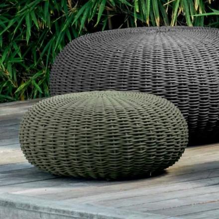 Pouf de jardin petit et rond Jackie by Talenti, design moderne