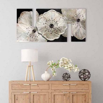 Tableau de design italien fleurs Petunia Piccola Argento