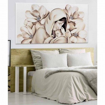 Tableau de design moderne en relief sur toile made in Italy Sole