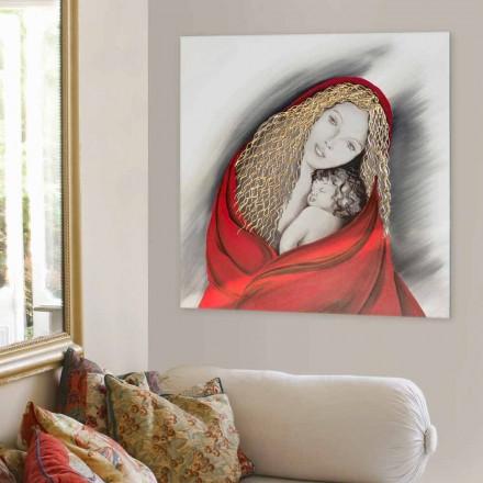 Tableau  Madonna, fabriqué en Italie et décoré à la main