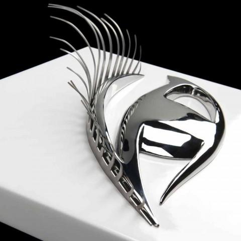Cadre artisanal moderne en bois, acier et résine fabriqué en Italie - Eye