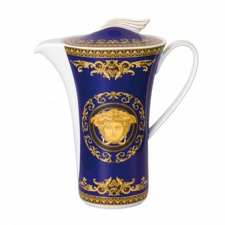 Rosenthal Versace Medusa Cafetière en porcelaine bleue pour 6 personnes