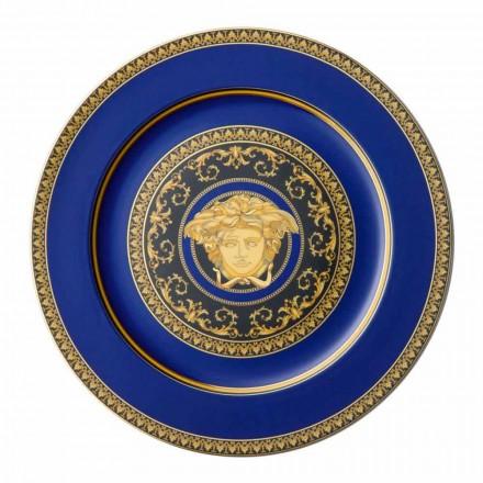 Rosenthal Versace Medusa Blue Plate marque-page de conception en porcelaine