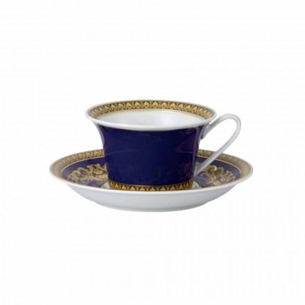 Rosenthal Versace Medusa Blue Tasse à thé en porcelaine moderne