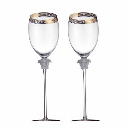 Rosenthal Versace Medusa D'Or 4 verres en cristal de l'eau de conception