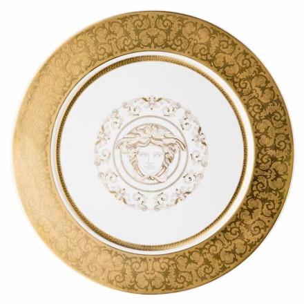 Rosenthal Versace Medusa Gala Or Plaque porte 33cm porcelaine
