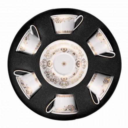 Rosenthal Versace Medusa Gala Ensemble de tasses à thé en or 6 pièces