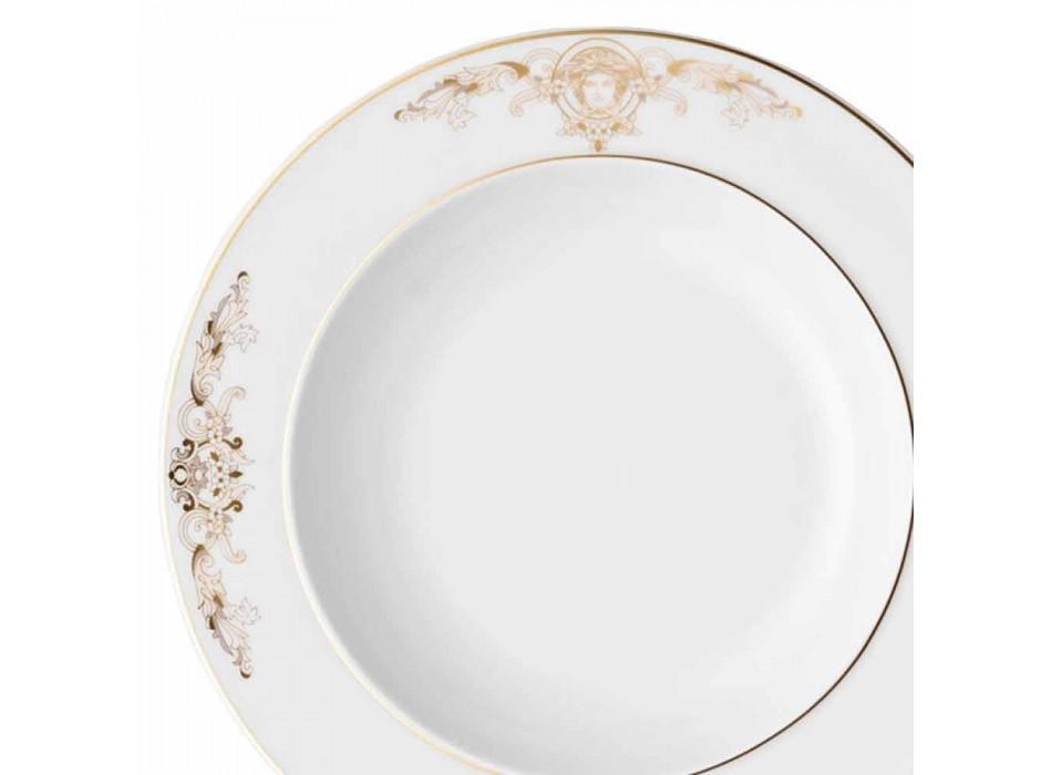 Assiette creuse Rosenthal Versace Medusa Gala de 22 cm en porcelaine