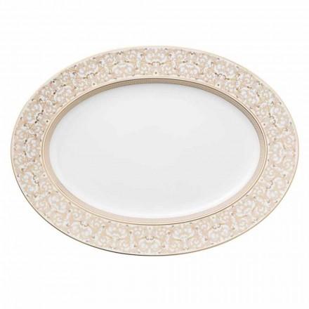 Rosenthal Versace Medusa Gala Ovale 40cm plat de conception en porcelaine