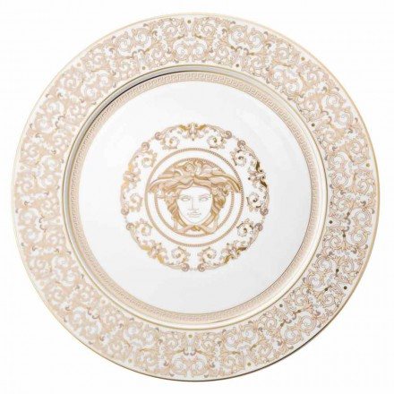 Rosenthal Versace Medusa Gala Assiette 33cm en porcelaine