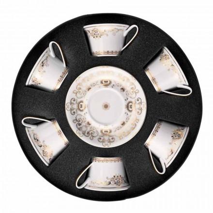 Rosenthal Versace Medusa Gala tasse de thé en porcelaine 6 pièces
